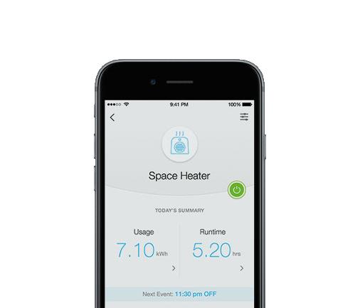 la fotografía ilustra la app TP-Link KASA mostrando la monitorización de energía