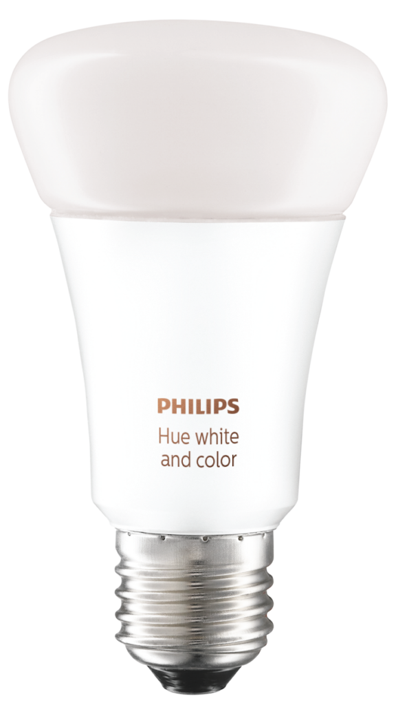 La imagen de una bombilla Philips Hue ilustra un articulo sobre el sistema Philps Hue