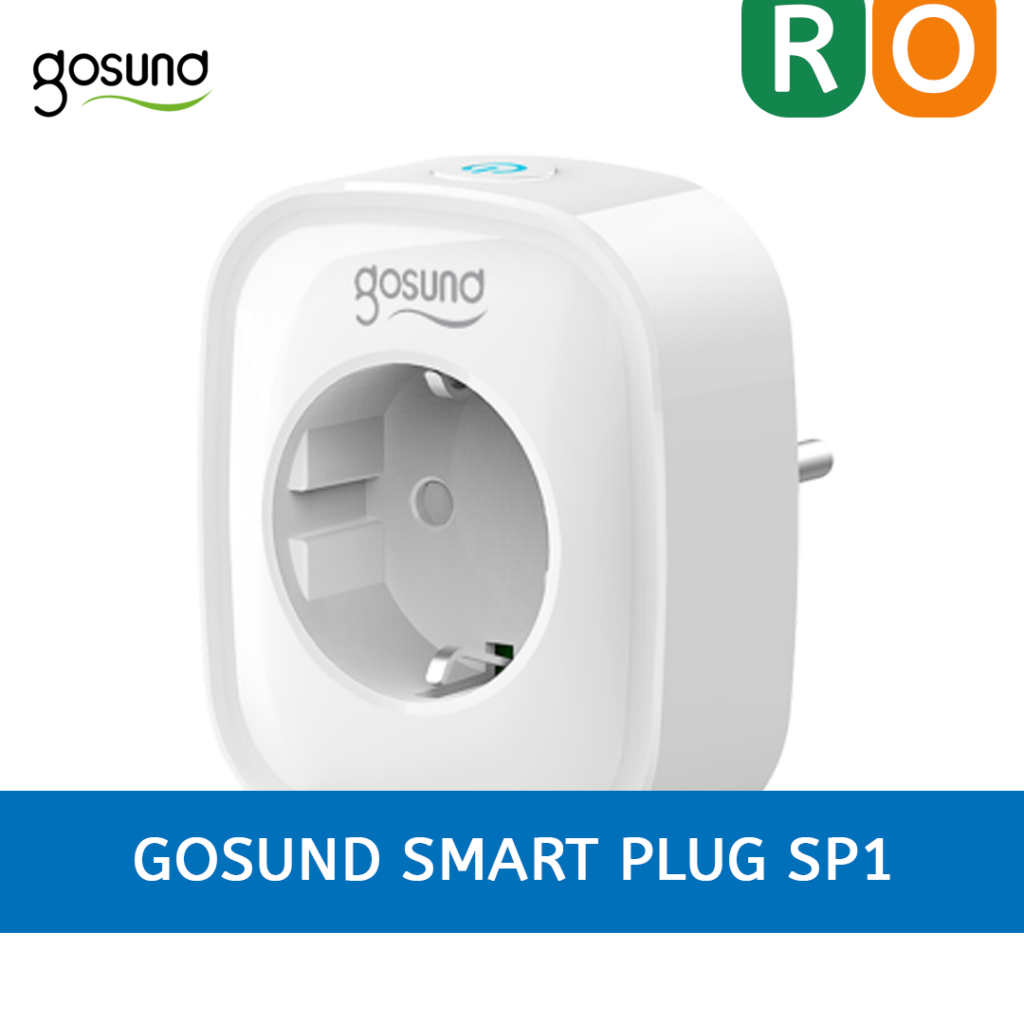 La imagen ilustra el enchufe inteligente Gosund Smart Plug Sp1